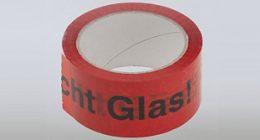 Klebeband Vorsicht Glas